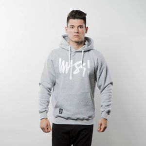 Bluza Mass Denim Sweatshirt Hoody Signature - light heather grey