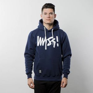 Bluza Mass Denim Sweatshirt Hoody Signature - navy