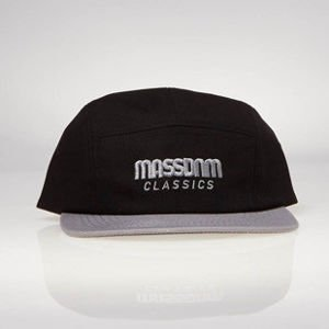 Czapka strapback Mass Denim 5 Panels Cap Classic Cut black / grey SS 2017