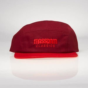 Czapka strapback Mass Denim 5 Panels Cap Classic Cut claret / red SS 2017