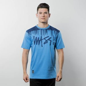Koszulka Mass Denim T-shirt Drip Top - blue