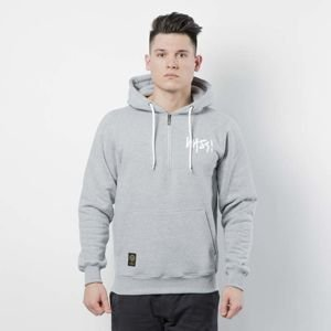 Mass DNM bluza Sweatshirt Hoody Half Zip Signature - light heather grey