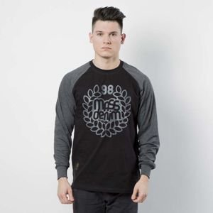 Mass DNM koszulka Longsleeve Base Reglan - black / dark heather grey