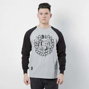 Mass DNM koszulka Longsleeve Base Reglan - light heather grey / black