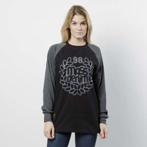 Mass DNM koszulka damska Longsleeve Base Reglan WMNS - black / dark heather grey