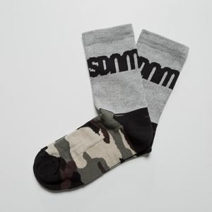 Mass DNM skarpety Half Camo Socks light heather grey