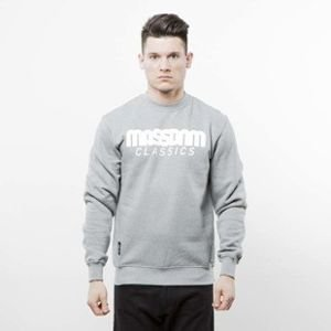 Mass Denim bluza crewneck Classics light heather grey