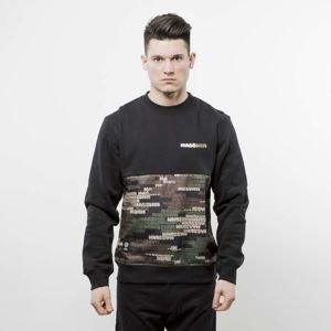 Mass Denim bluza crewneck Phat Camo black