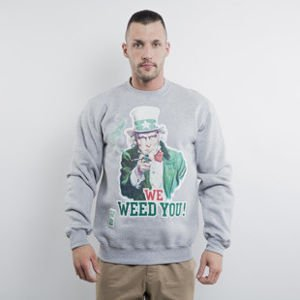 Mass Denim bluza crewneck We Weed You crewneck light heather grey