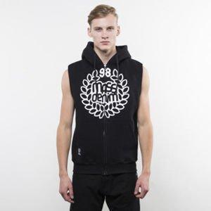 Mass Denim bluza hoody Base Zip Sleeveless black