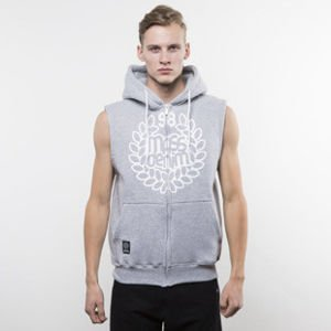 Mass Denim bluza hoody Base Zip Sleeveless light heather grey