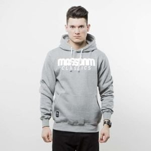 Mass Denim bluza hoody Classics light heather grey