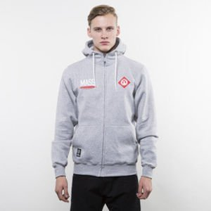 Mass Denim bluza hoody Crest Zip light heather grey