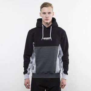 Mass Denim bluza hoody Sprint black / dark heather grey