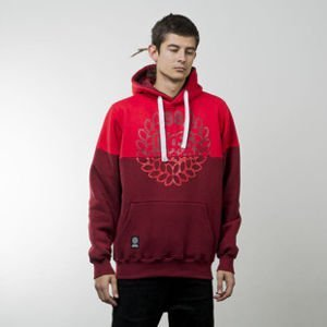 Mass Denim bluza sweatshirt Base Cut hoody red / claret