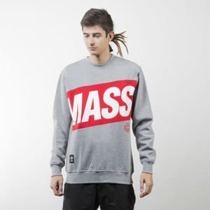Mass Denim bluza sweatshirt Big Box crewneck light heather grey