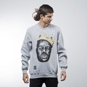 Mass Denim bluza sweatshirt Brooklyn Legend crewneck light heather grey