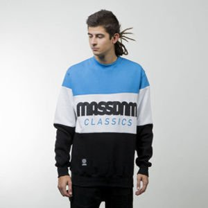 Mass Denim bluza sweatshirt Classic Cut crewneck black / blue