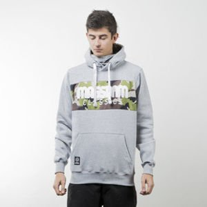 Mass Denim bluza sweatshirt Classics Camo hoody light heather grey