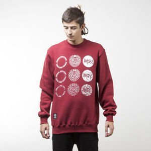 Mass Denim bluza sweatshirt Mind crewneck claret