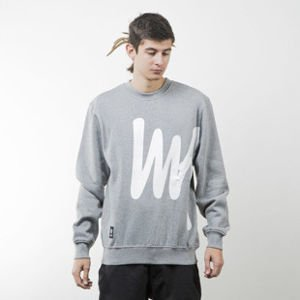 Mass Denim bluza sweatshirt Signature Big crewneck light heather grey