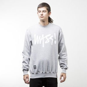 Mass Denim bluza sweatshirt Signature crewneck light heather grey