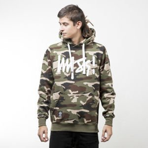 Mass Denim bluza sweatshirt Signature hoody woodland camo