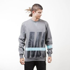 Mass Denim bluza sweatshirt Split crewneck dark heather grey