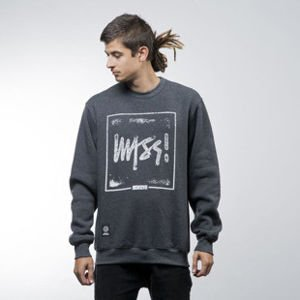 Mass Denim bluza sweatshirt Stamp crewneck dark heather grey