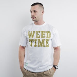 Mass Denim koszulka Weed Time white