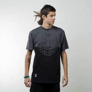 Mass Denim koszulka t-shirt Base Cut black / dark heather grey