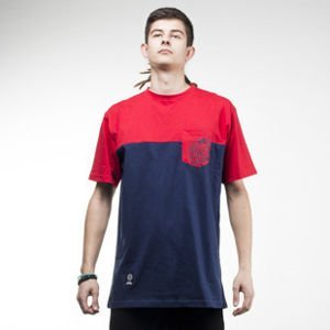 Mass Denim koszulka t-shirt Pocket Base navy / red
