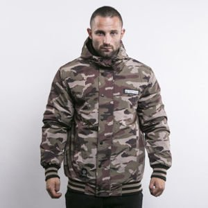 Mass Denim kurtka zimowa District woodland camo