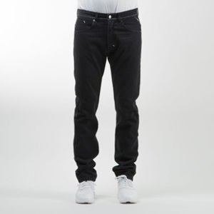 Mass Denim spodnie Jeans Ring tapered fit rinse black