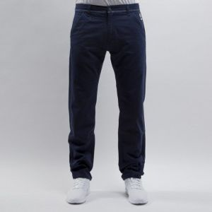 Mass Denim spodnie chino Base straight fit navy