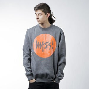 Mass Denim sweatshirt bluza Signature crewneck dark heather grey