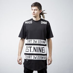 Mass Denim t-shirt koszulka Dyme long fit black BLAKK