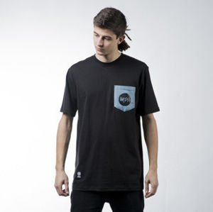Mass Denim t-shirt koszulka Pocket Signature black