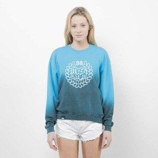 Saint Mass bluza crewneck Base Fade blue / green