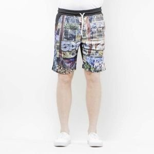 Szorty Mass Denim Shorts Mesh R.I.P. 5Pointz multicolor SS 2017