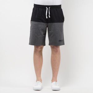 Szorty Mass Denim Sweatshorts Classics Cut black / dark heather grey SS 2017