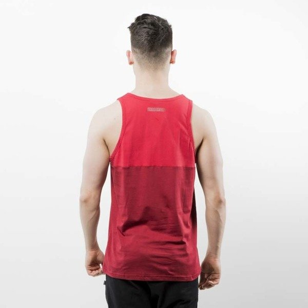 Koszulka Mass Denim Tank Top Classics Cut claret /red SS 2017