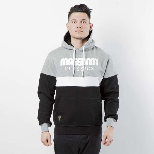 Mass DNM bluza Sweatshirt Hoody Respect - light heather grey / black