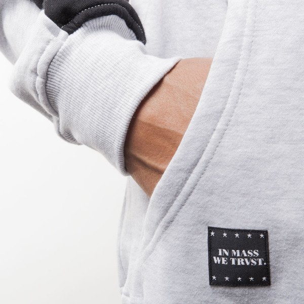 Mass Denim BLAKK bluza sweatshirt Slogan crewneck extra light heather grey