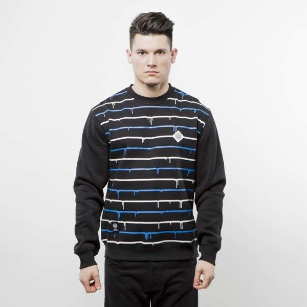 Mass Denim bluza crewneck Dripline black
