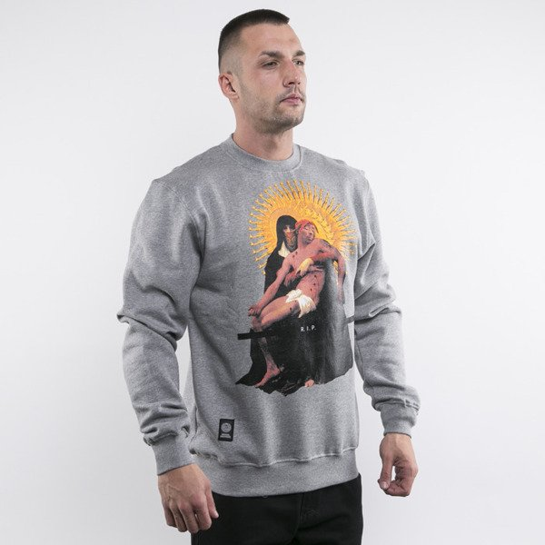 Mass Denim bluza crewneck Pieta light heather grey