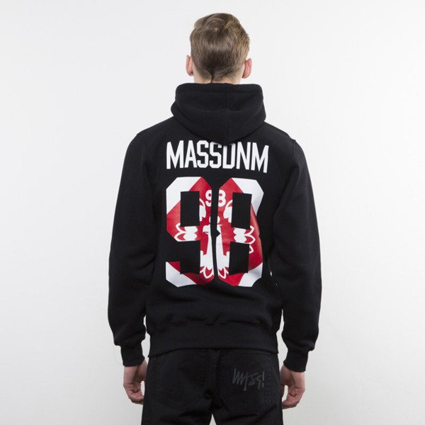 Mass Denim bluza hoody Crest Zip black