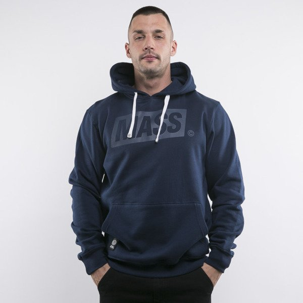 Mass Denim bluza hoody Three D navy