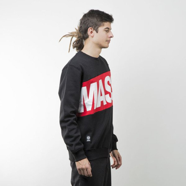 Mass Denim bluza sweatshirt Big Box crewneck black