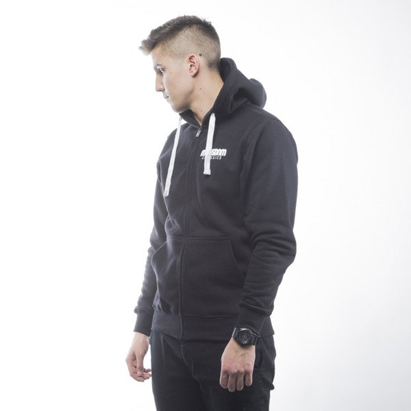 Mass Denim bluza sweatshirt Classics zip hoody black